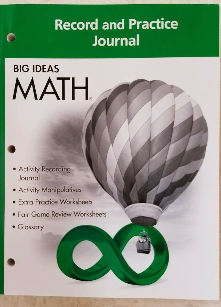 Big Ideas Math Green Record and Practice Journal Green Grade 6 ...