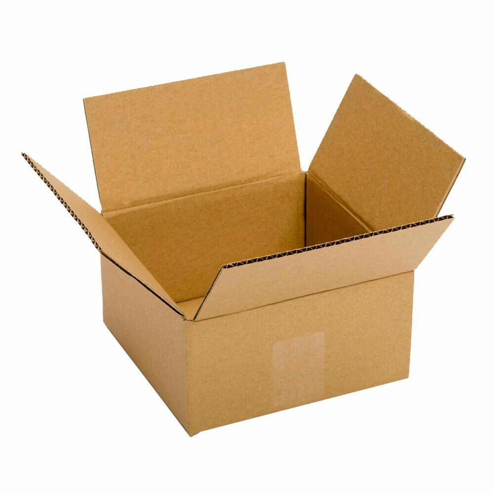 small cardboard boxes 25 pack 6x6x4 39 39 packing shipping mailing delivery supply ebay. Black Bedroom Furniture Sets. Home Design Ideas