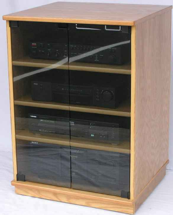 Stereo Rack Audio Cabinet Tv Stand Entertainment Center