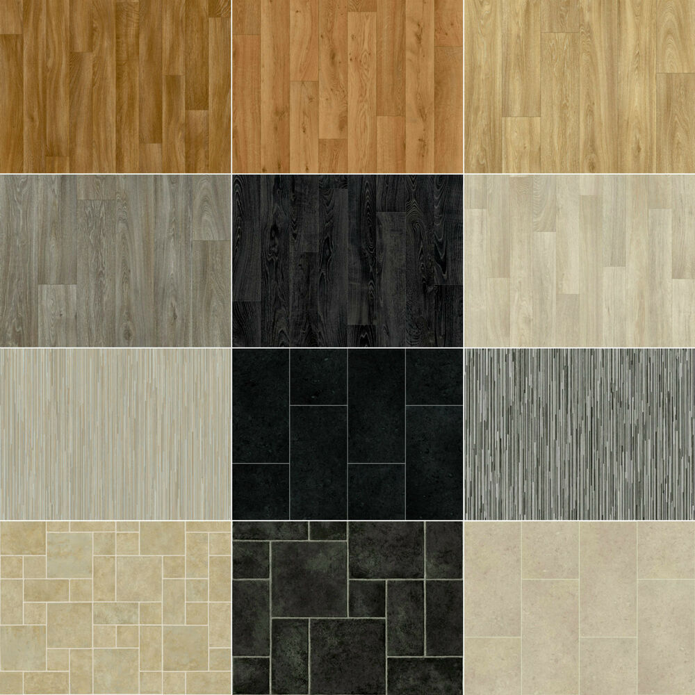 Slight seconds vinyl flooring lino anti slip kitchen for Cheap vinyl floor tiles
