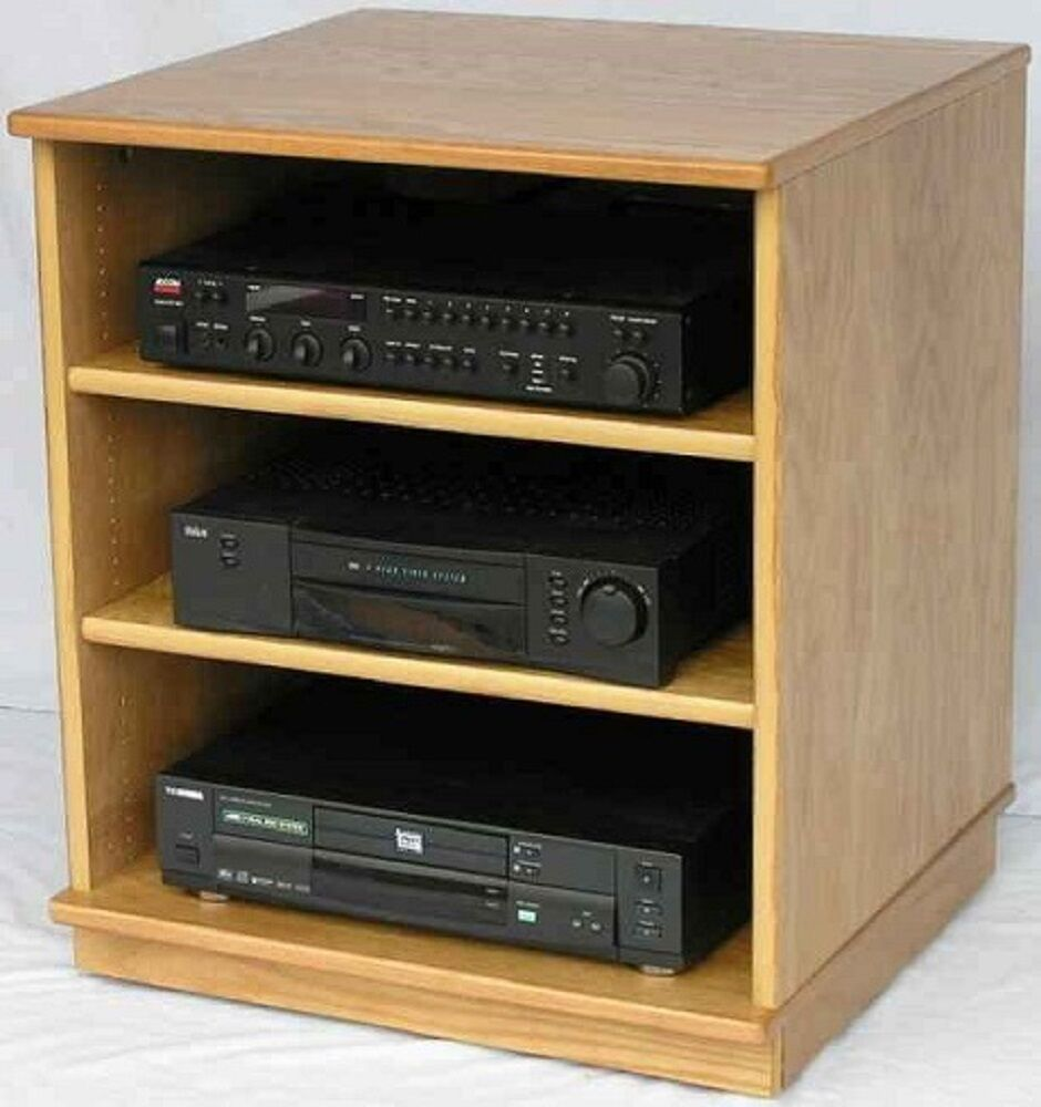 tv stand stereo cabinet audio cabinet audio rack stereo rack video game cabinet ebay. Black Bedroom Furniture Sets. Home Design Ideas