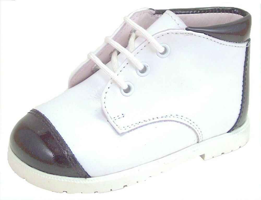 De Osu A 432 Baby Toddler Boys Euro White Leather Black