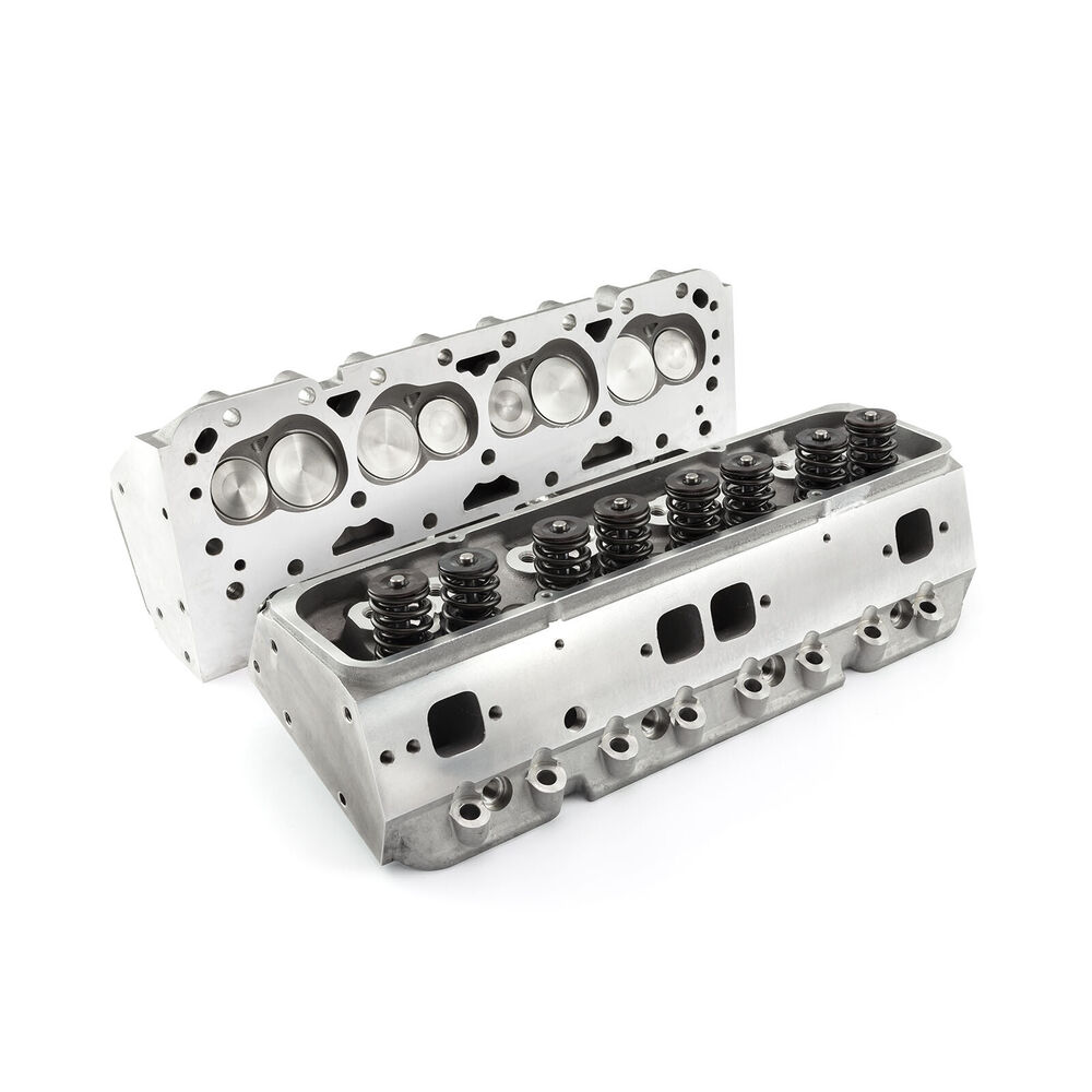 Complete Aluminum Cylinder Heads SBC Chevy 350 190cc 64cc