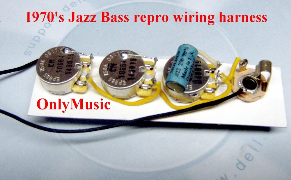 compatible with 1970 fender jazz bass repro vintage wiring Universal Wiring Harness 2005 Fender Jazz Bass Catalog