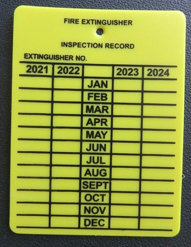 Image Result For Fire Extinguisher Inspection Tag