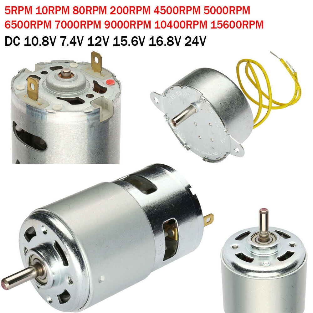 Dc Micro Magnetic Motor High Power Torque 2 Terminals