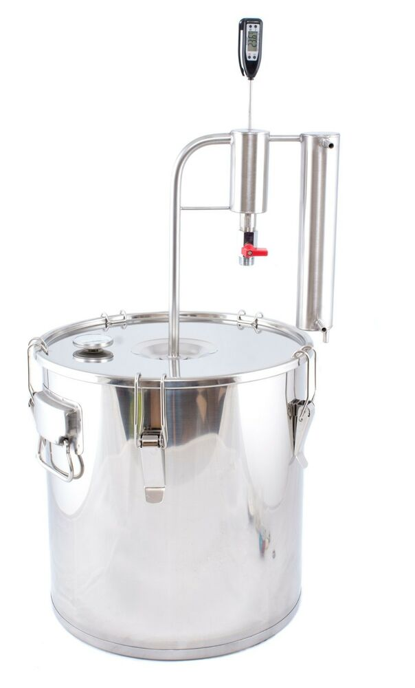 KIT Distiller on pot 30L alcoholometer moonshine still alcohol bucket ...