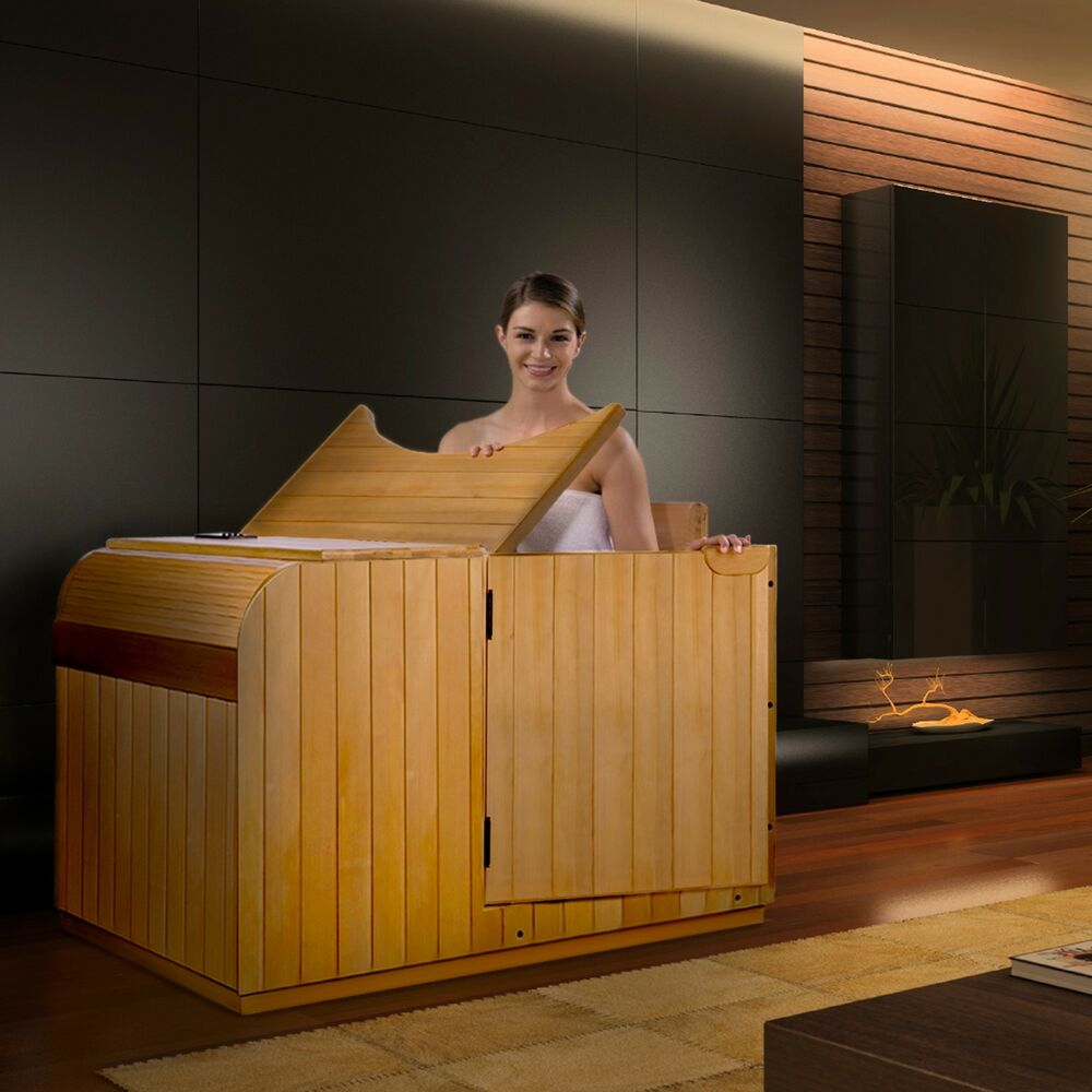 dynamic 1 person far infrared sauna granada 3 carbon heating panels new hemlock 696859315381 ebay. Black Bedroom Furniture Sets. Home Design Ideas