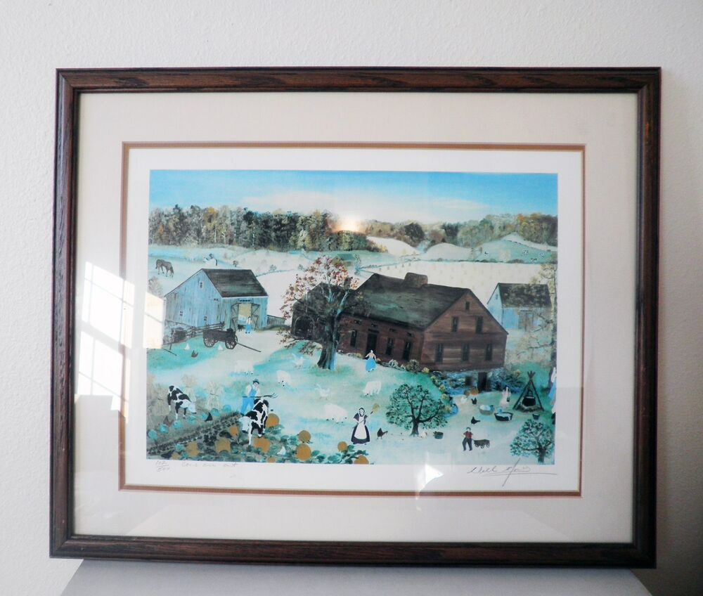 'Cows Are Out' by Will Moses Signed Limited Edition Framed ...