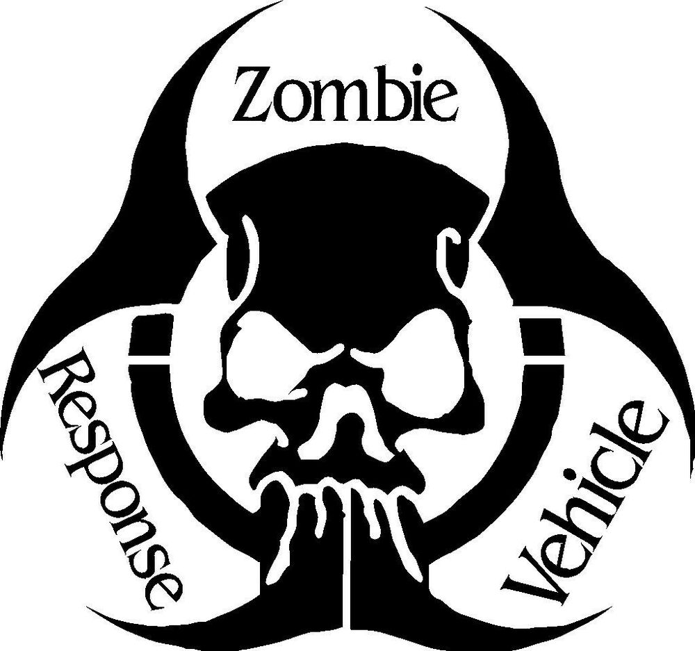 Zombie Response Vehicle Skull Vinyl Sticker The Walking