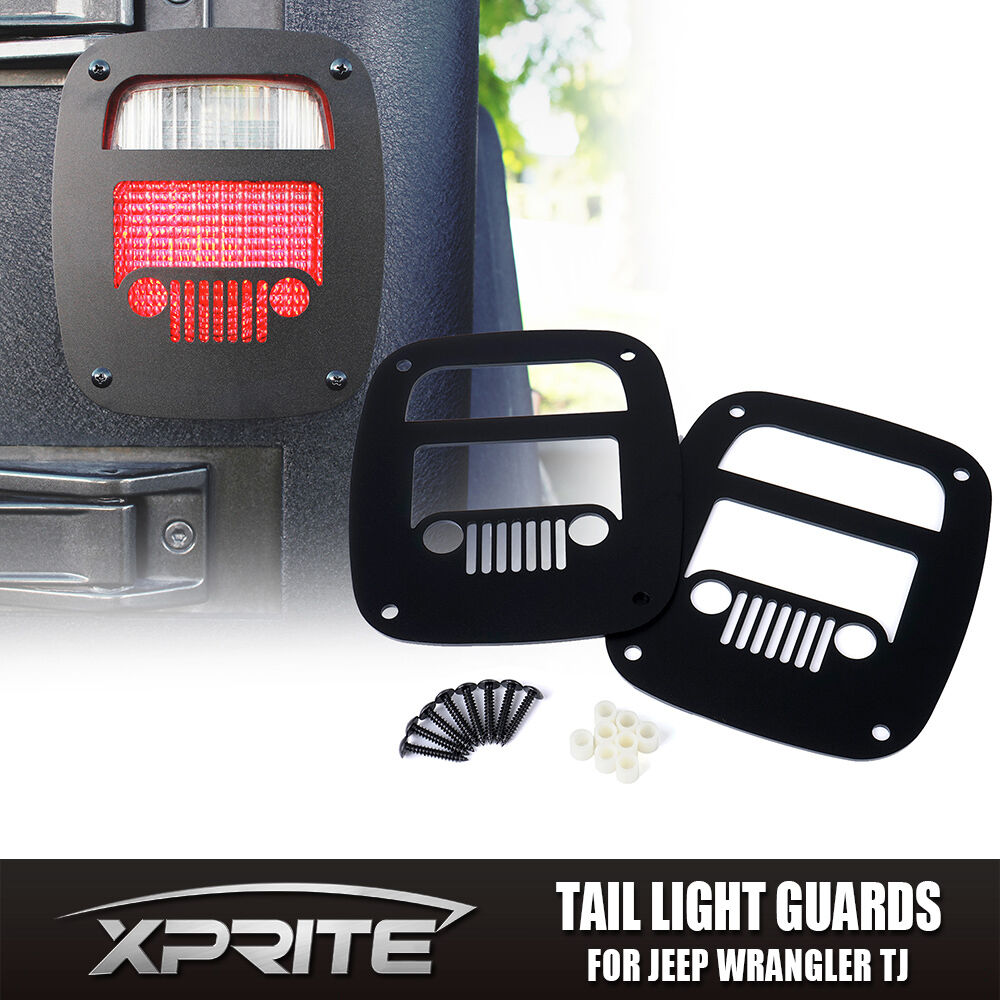 Xprite Black Grille Tail Light Cover Guard For 1987