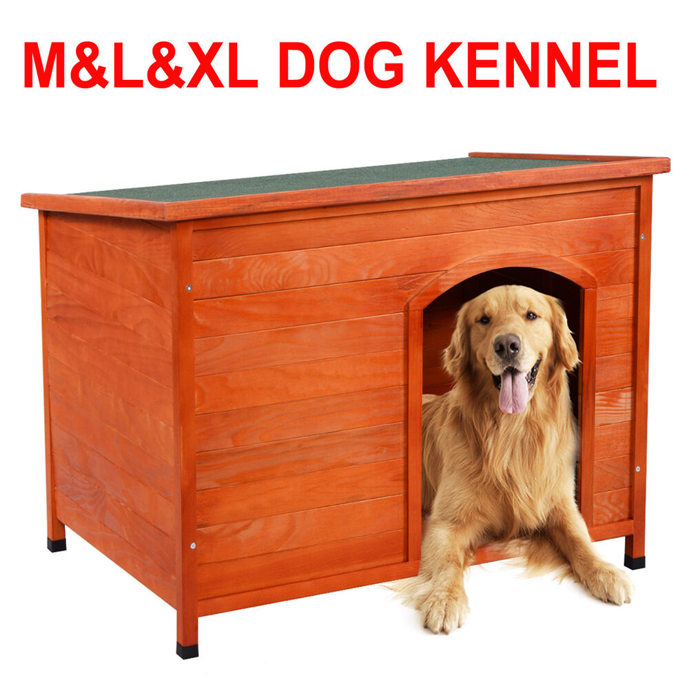 Wooden dog cage insulated kennel removable roof outdoor for Xl indoor dog kennel