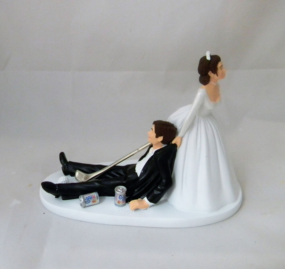 golf ball wedding cake topper wedding golf amp club golfer cake topper 14842
