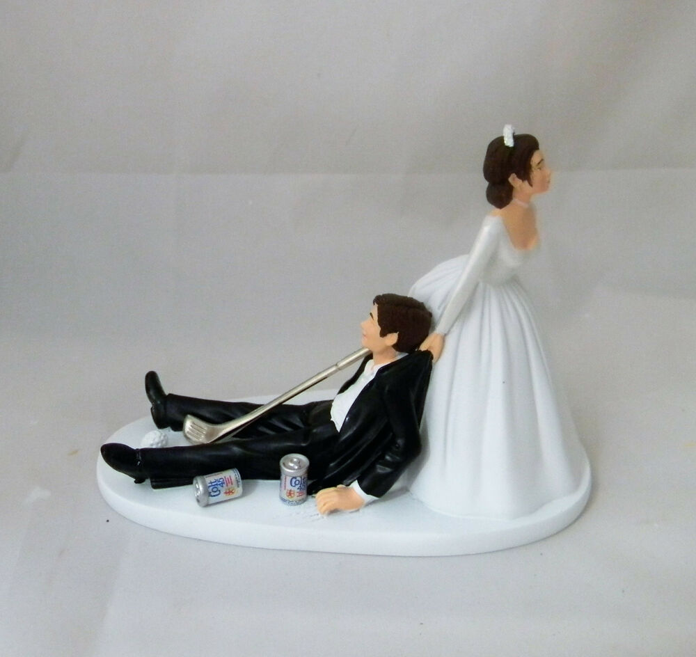 wedding cake toppers bride and groom golf wedding golf amp club golfer cake topper 26410