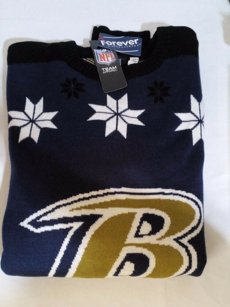 14379b3510c NFL Baltimore Ravens Almost Right But Ugly Sweater XL 887849706993 ...