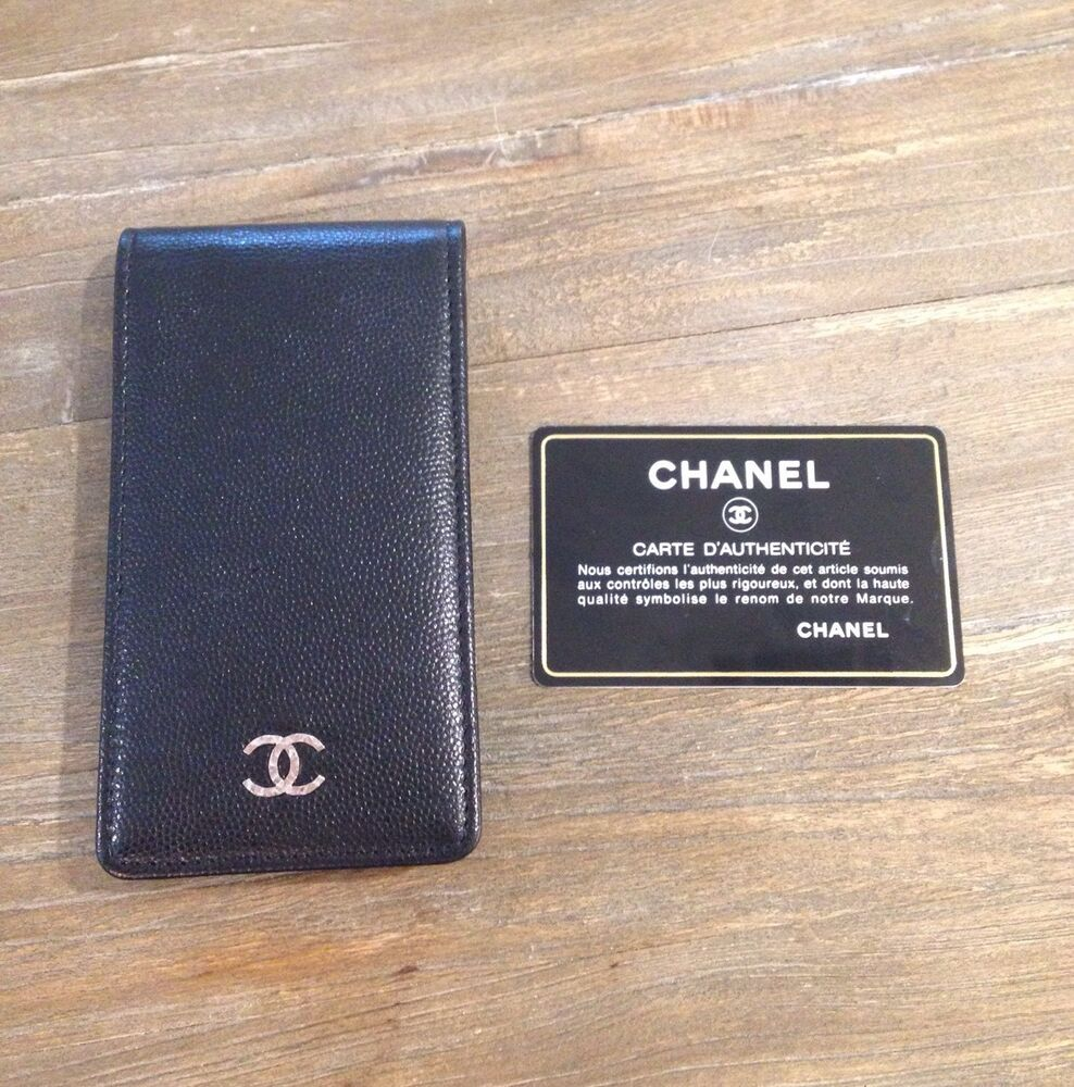 New Chanel Black Lambskin Leather iPhone 4/4S Case, CC ...