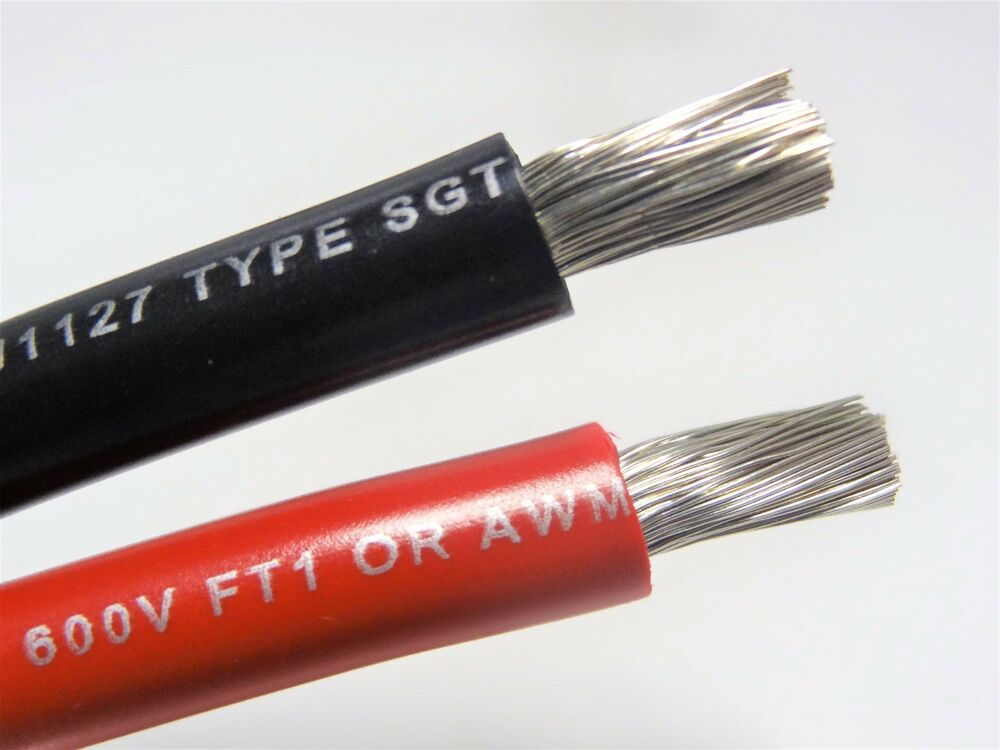 Red Battery Cable : Awg gauge black red marine tinned copper battery cable