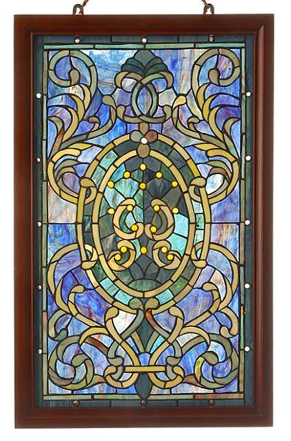stained glass window panel suncatcher style with