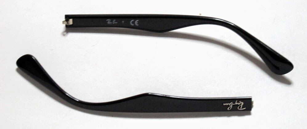 b39720b7935ac4 ASTE RICAMBIO RAY BAN 3445 POLISHED BLACK NERO REPLACEMENT SIDE ARMS  LUNETTES   eBay