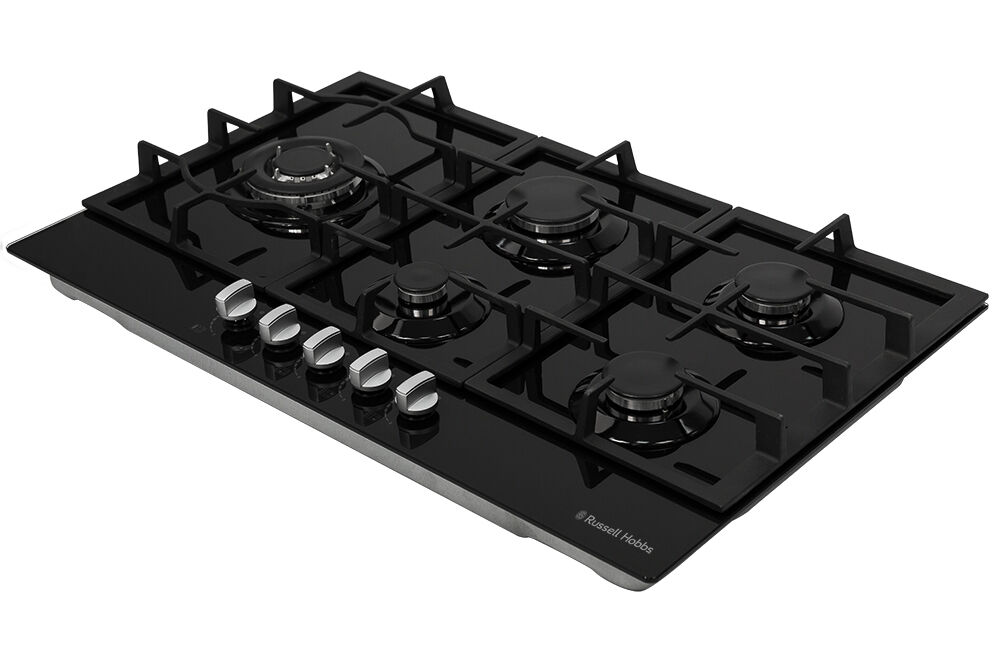 russell hobbs glass hob with 5 gas burners manual dial. Black Bedroom Furniture Sets. Home Design Ideas