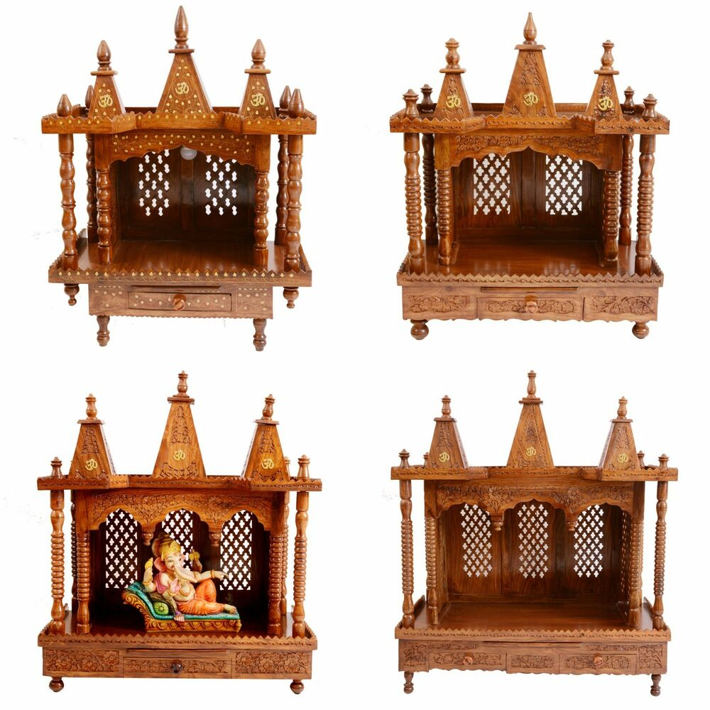 Wooden Temple for Home Pooja Mandir Puja Temple in ...