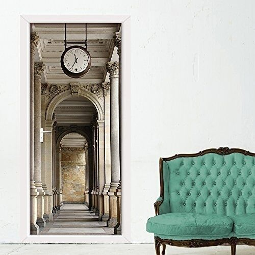 Walplus 200x86 cm wall stickers passageway door removable for Removable walls and doors