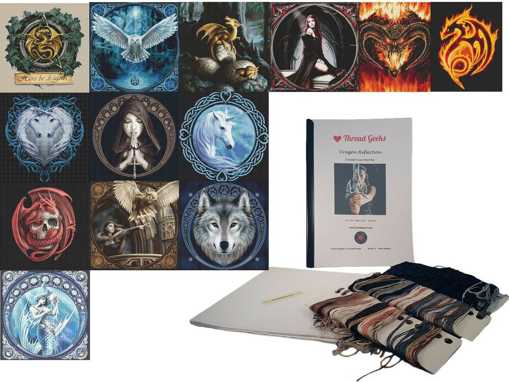 Anne Stokes Counted Cross Stitch Kit Gothic Fantasy ...