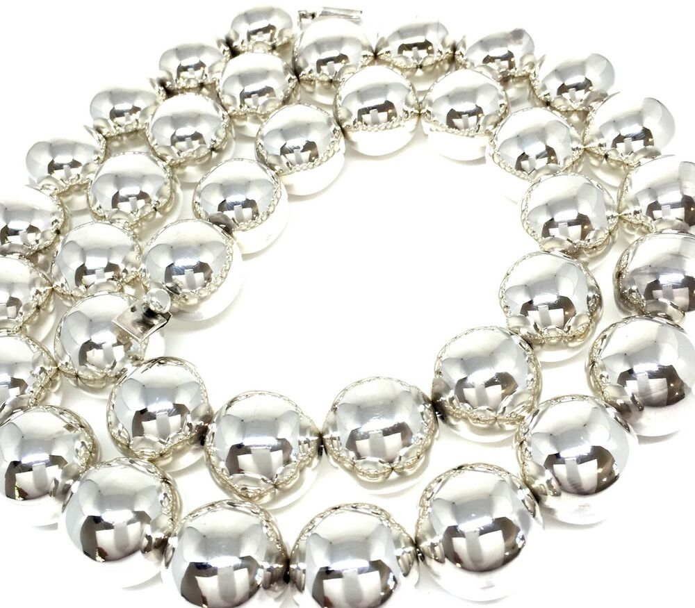 1 Gram Beads: TAXCO MEXICAN 925 STERLING SILVER HUGE 380 GRAM BEADED