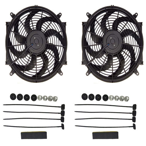 Dual 14 Inch Electric Universal Automotive Cooling