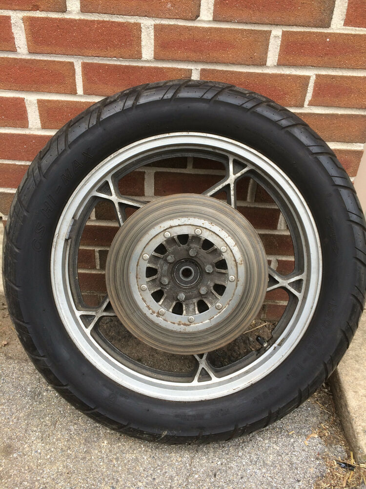 Oem rear wheel tire from 1979 suzuki gs550e for Ebay motors wheels and tires