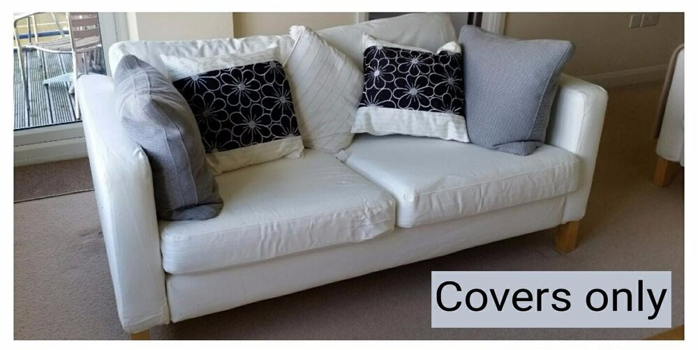 Ikea Karlstad 2 Cushion Sofa Covers Ebay