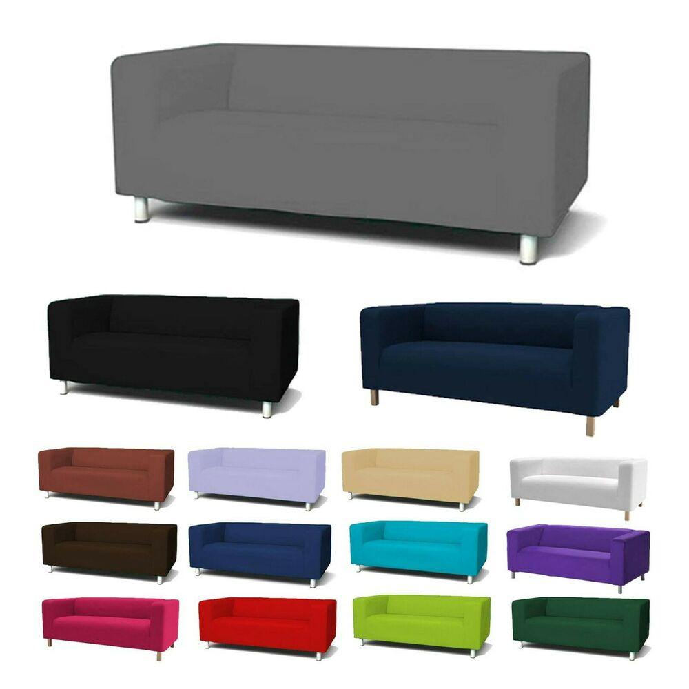 custom cover slipcover to fit ikea klippan 2 seater sofa settee replacement ebay. Black Bedroom Furniture Sets. Home Design Ideas