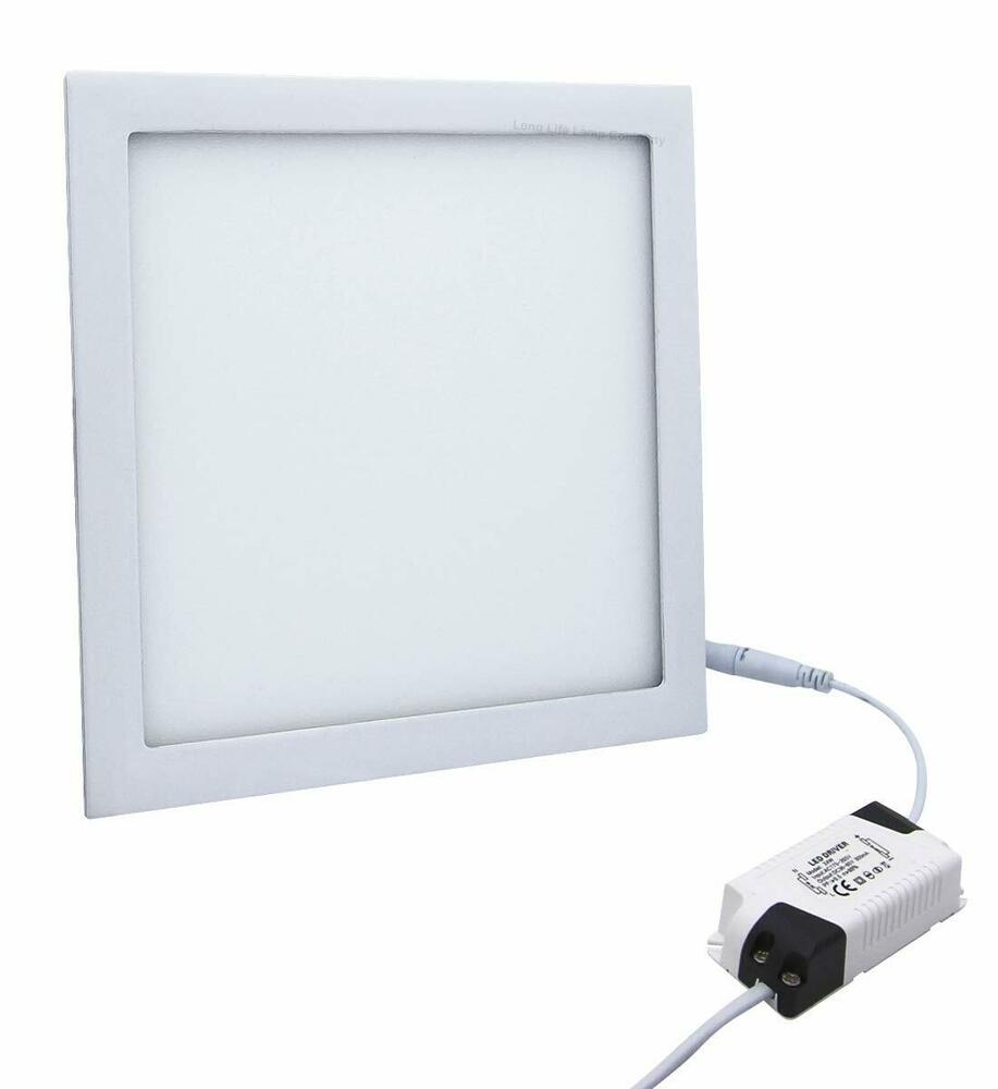 24w led recessed ceiling panel square ultra slim flat down light 300mm x 300mm ebay. Black Bedroom Furniture Sets. Home Design Ideas