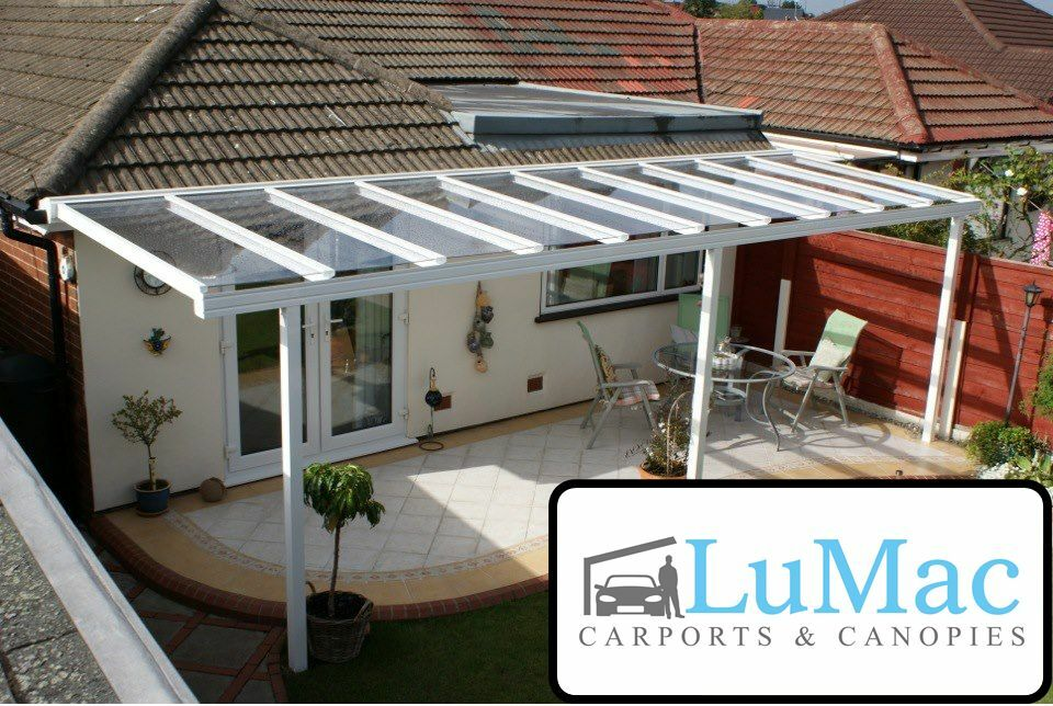 Glass Outdoor Shelter : Glass clear roof cover patio covering shelter garden