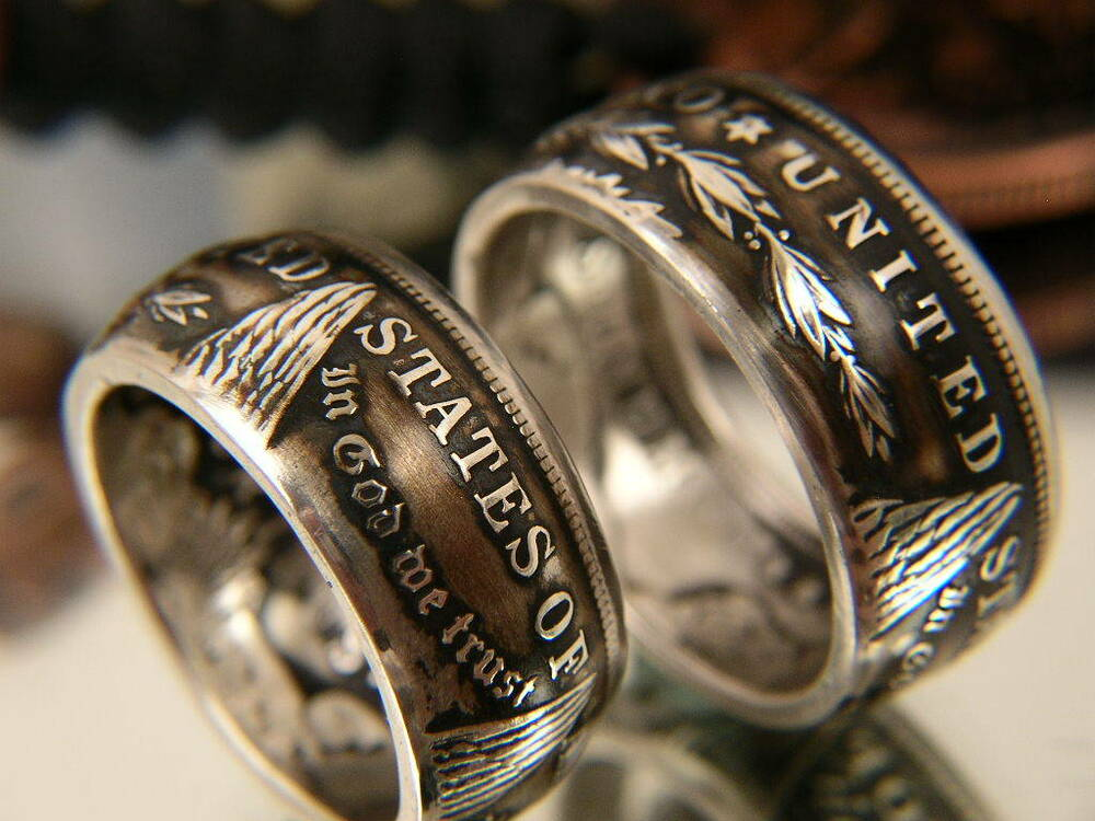 New Smaller Sizes 7 16 Coin Rings Made From Silver Morgan Dollars