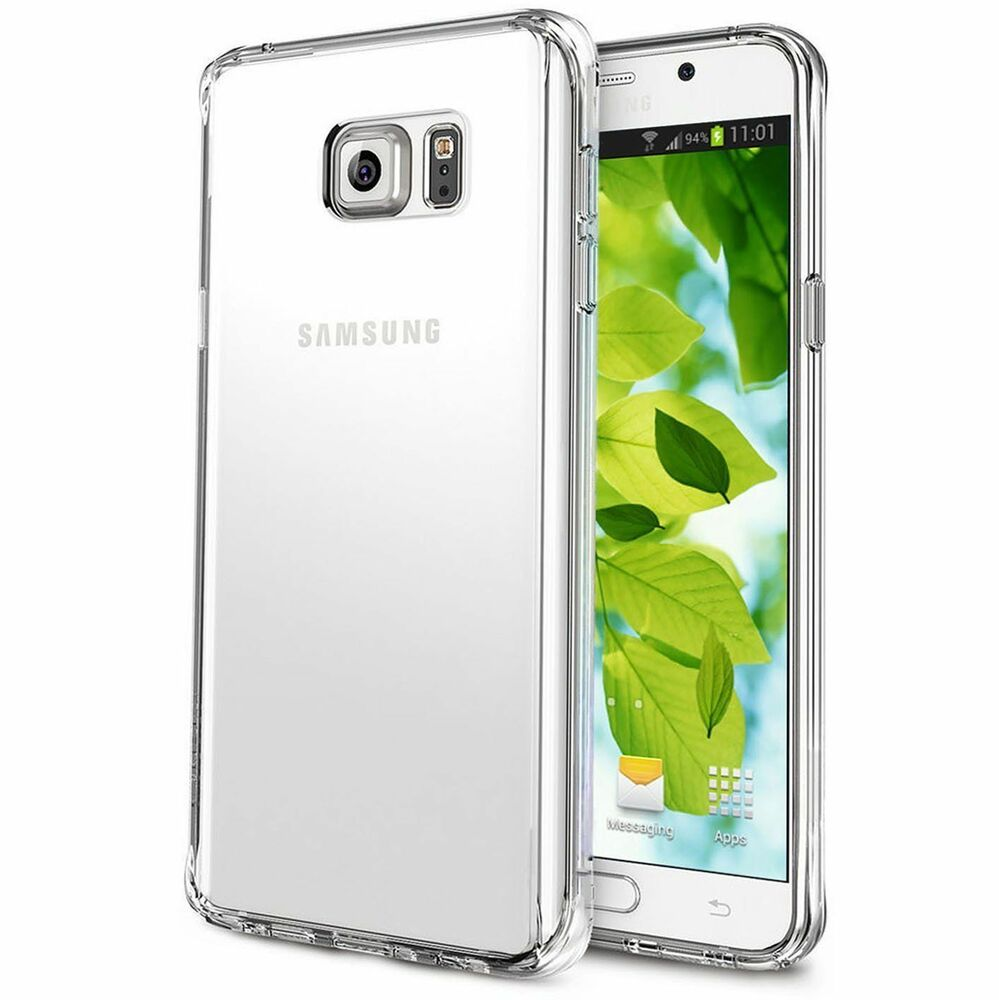 ultra slim shockproof clear case cover for samsung galaxy s5 s6 s7 edge ebay. Black Bedroom Furniture Sets. Home Design Ideas