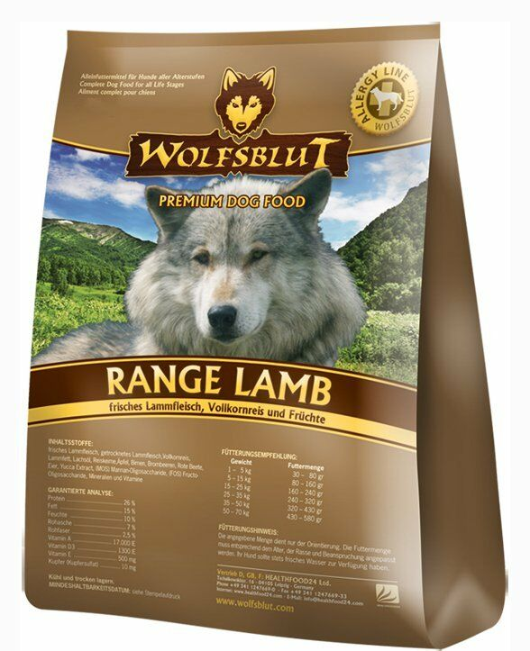 wolfsblut range lamb 15 kg hundefutter mit lamm ebay. Black Bedroom Furniture Sets. Home Design Ideas