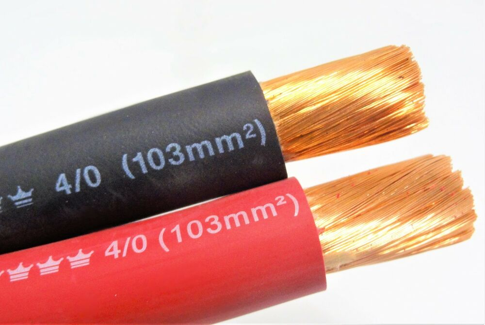 Excelene 4 0 Welding Cable Red Black 0000 Copper Wire