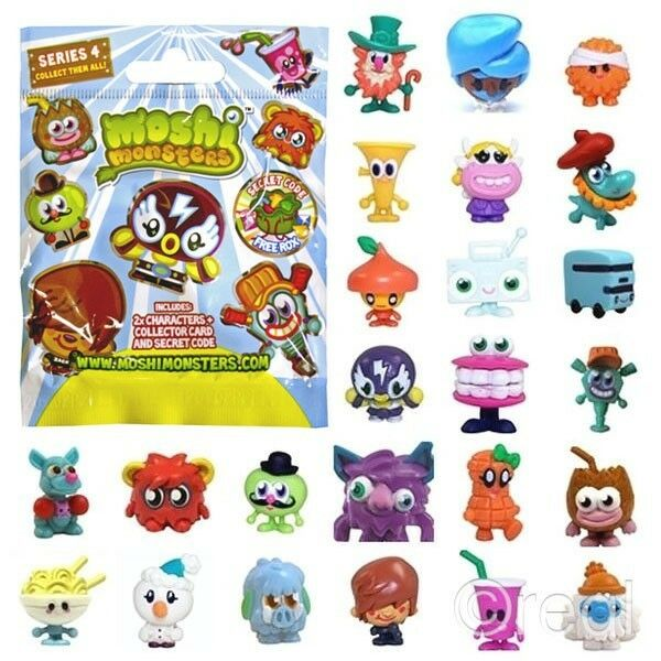 Smooshy Mushy Blind Bags Series 2 : New Moshi Monsters Series 4 Blind Bag With 2 Moshlings Card & Rox Code Official eBay