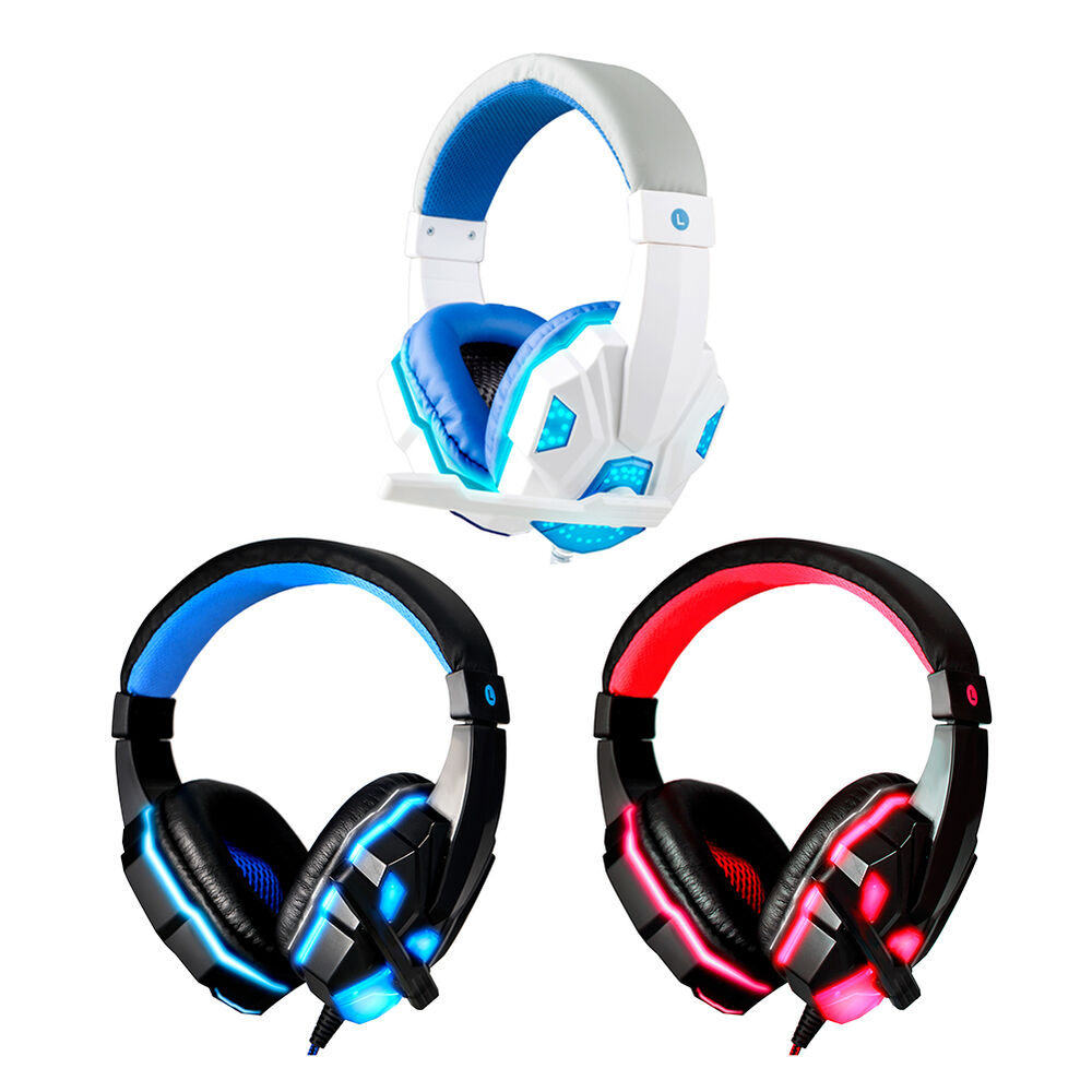 gaming headset mic led over ear running headphones. Black Bedroom Furniture Sets. Home Design Ideas