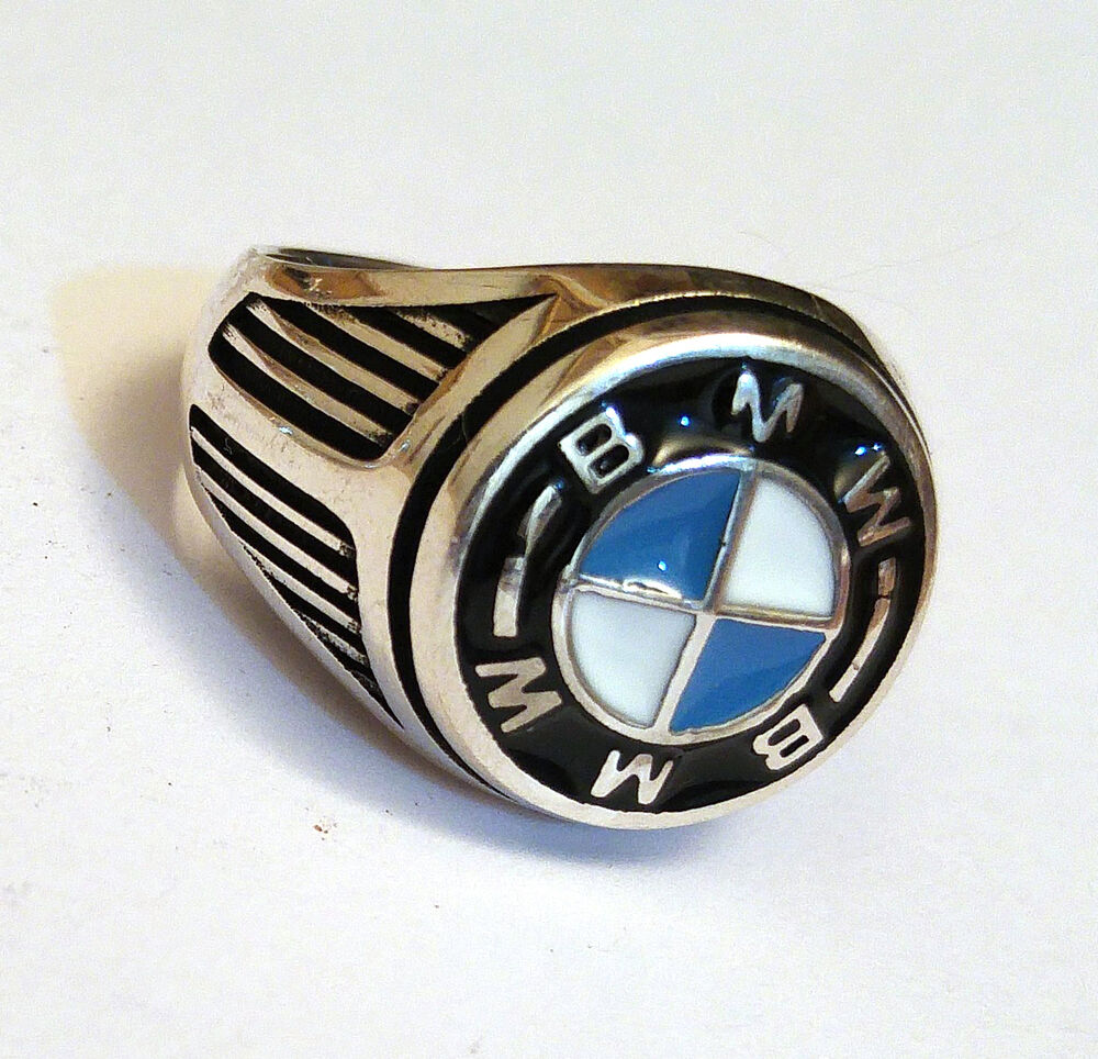 bmw handmade 925 sterling silver s ring sz 9 5 us