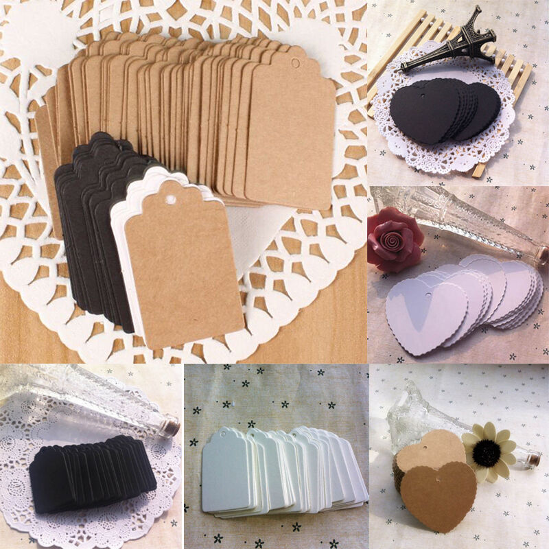 Wedding Gift Card Value : ... Paper Hang Tags Wedding Party Favor Label Price Gift Cards eBay