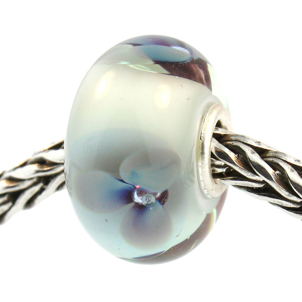 Authentic Trollbeads Glass 61379 Antique Flower :0