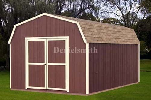 12 x 16 barn storage shed plans buy it now get it fast for Garden shed 12x12