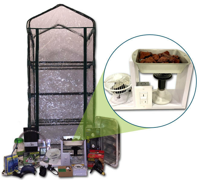 Mushroom Ecosphere Growing Kit Custom Heated Greenhouse