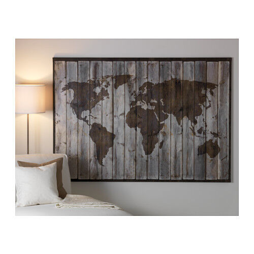 Ikea canvas art ebay ikea premir picture driftwood map on high quality canvas 78 x 55 gumiabroncs Images