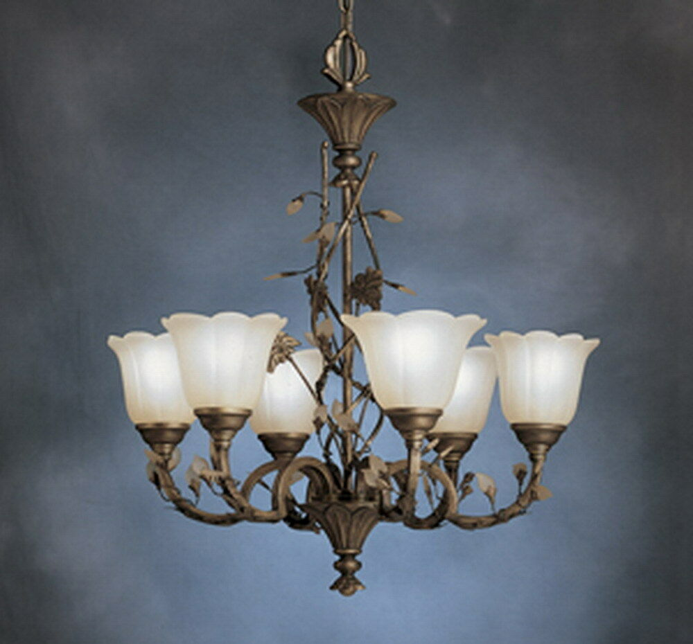 Kichler Parisian Bronze And Umber Etched Glass 6 Light