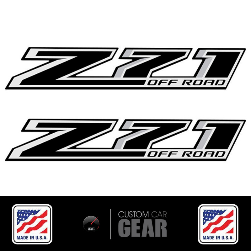 Chevy Z71 Off Road Decals Stickers Black Out 2014 2015