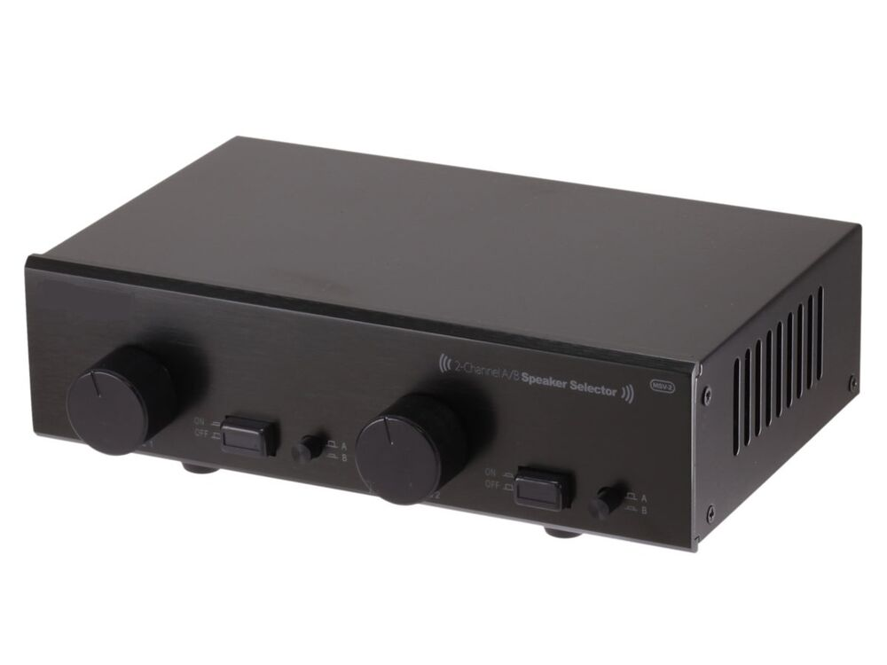 2 Channel A B Stereo Audio Speaker Switch Selector W