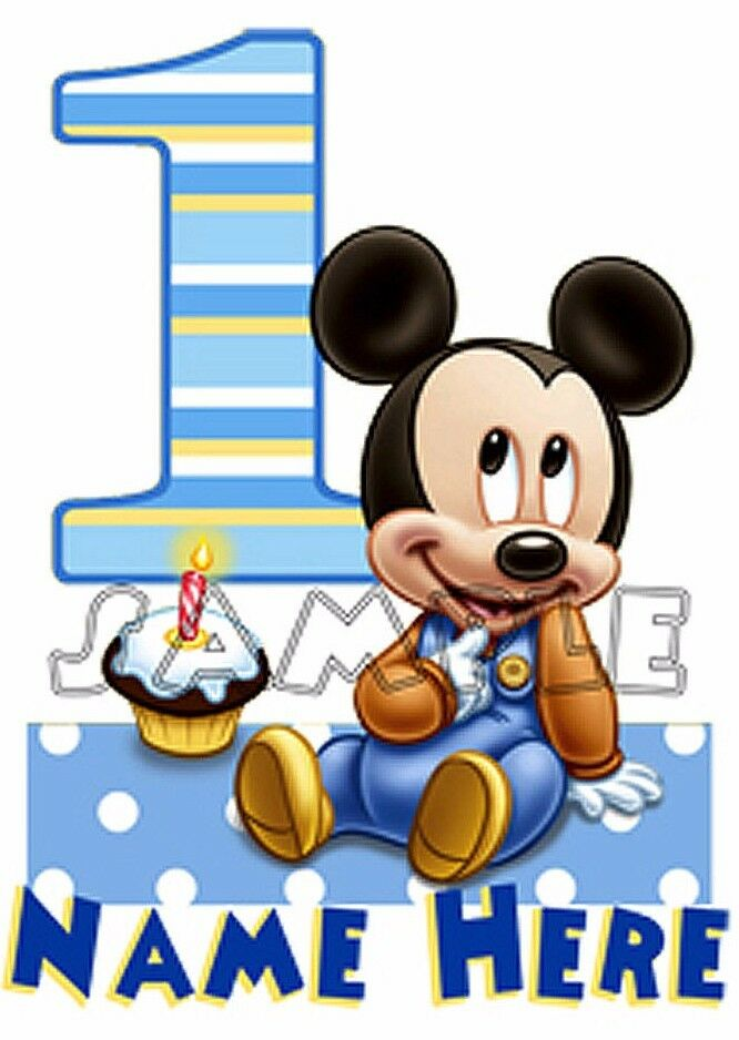 Baby Mickey Mouse 1st First Birthday Personalized T shirt ...